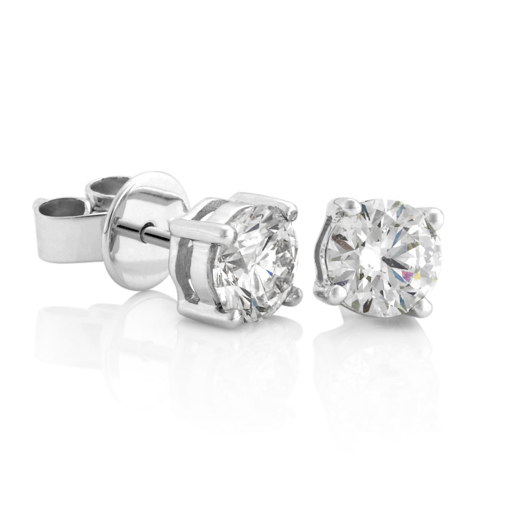 Diamond earrings. David Benn Fine Jewellery, Sydney, Australia.