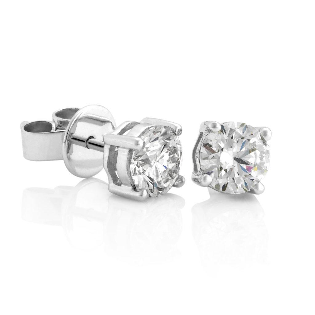 Diamond earrings. David Benn Fine Jewellery, Sydney, Australia.