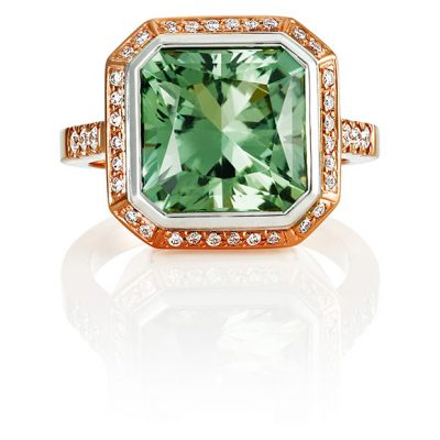 Coloured gemstone ring. Coloured gemstone design. David Benn Fine Jewellery, Sydney, Australia.